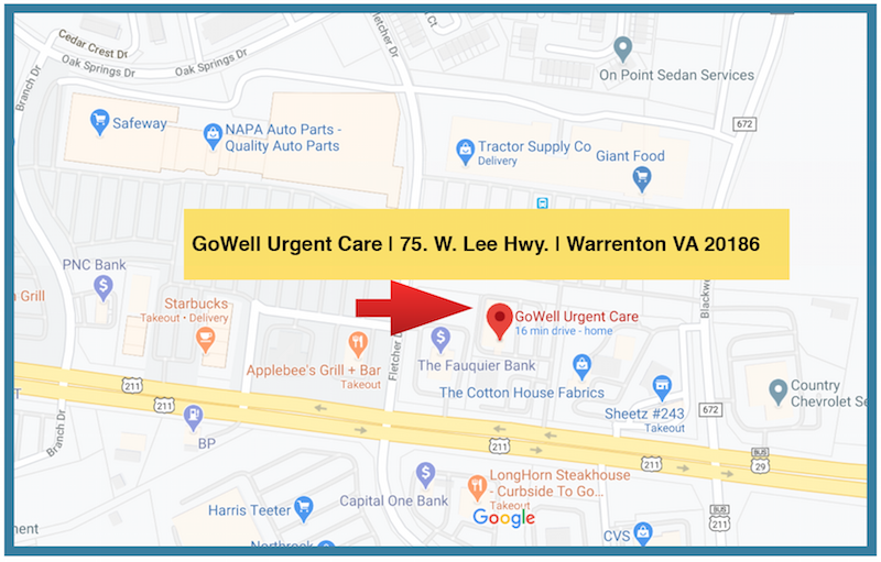 GoWell Urgent Care Google Map